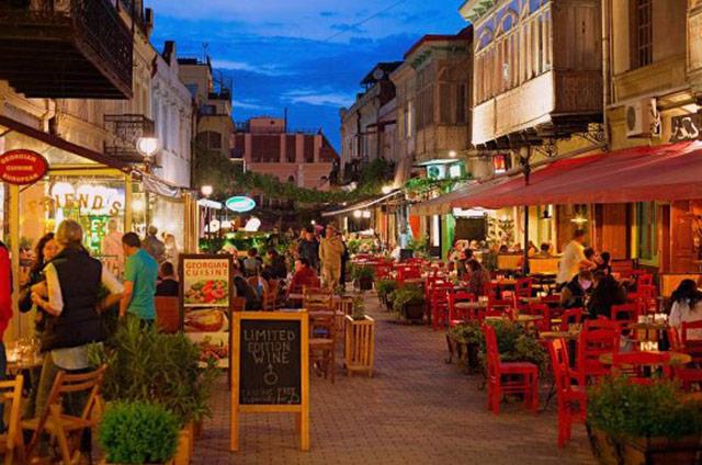 Chardin street in Tbilisi