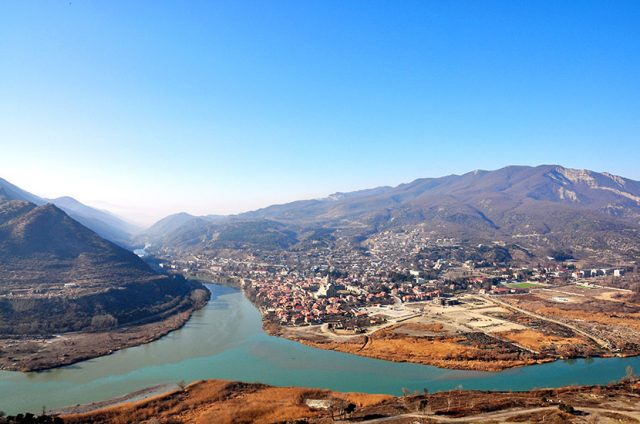 Rivers Aragvi and Kura in Mtskheta
